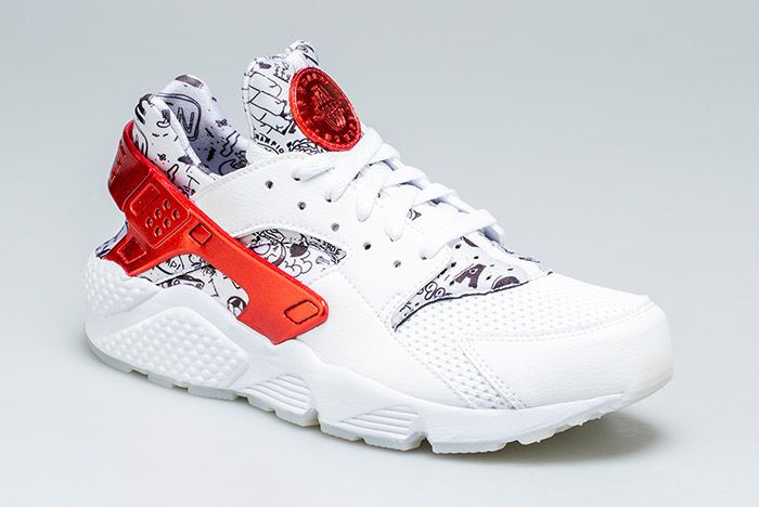 Nike Air Huarache Qs White Red Shoe Palace 6 Sneaker Freaker