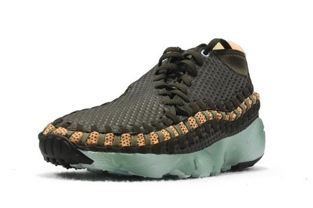 Nike Air Footscape Woven Brown Mint Front Quarter 1