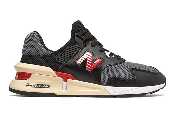 New Balance 997S Black With Red Side