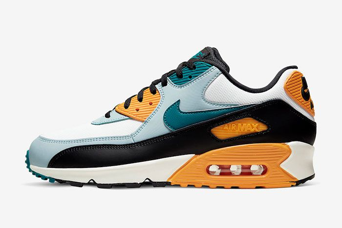 Nike Air Max 90 Teal Yellow Left