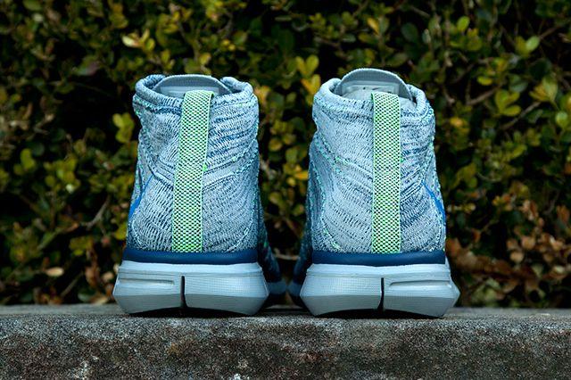 Nike Flyknit Chukka Blue Grey Green 3