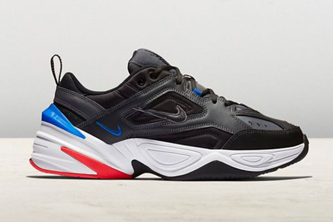 Nike M2K Tekno Black Racer Blue Side Shot