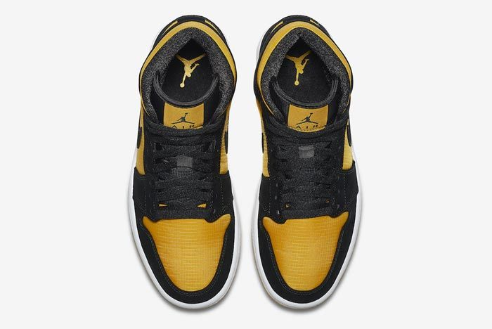 Air Jordan 1 Black University Gold Top