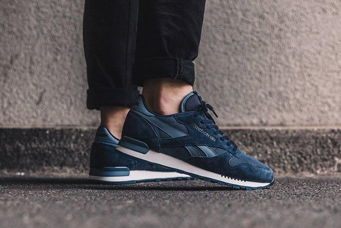 Reebok Classic Leather Clip Ele Navy Blue 3