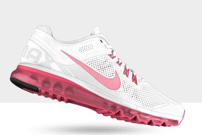 Nikeid Air Max Pink White Profile 1