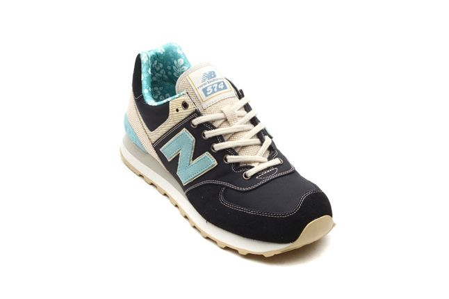 New Balance 574 Floral Hemp Pack Baby Blue And Navy Angle 1