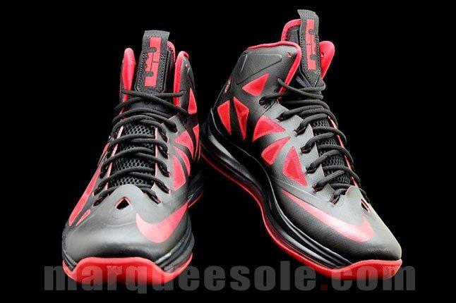 Black Red Lebron Sneaker 1