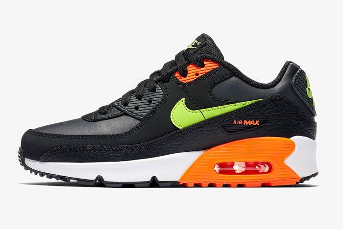 Nike Air Max 90 Orange Green Left