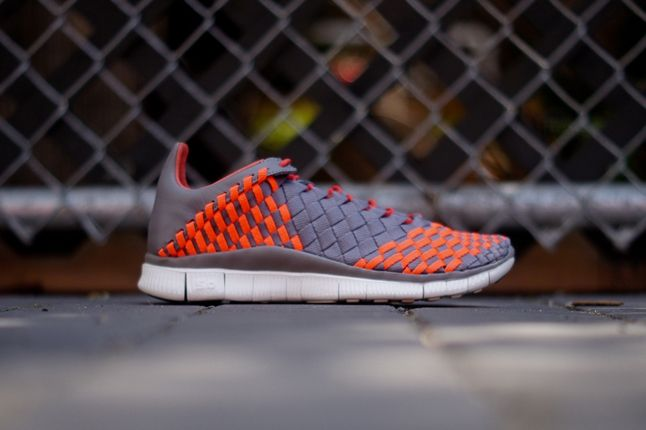 Nike Free Inneva Grey Orange Profile 1