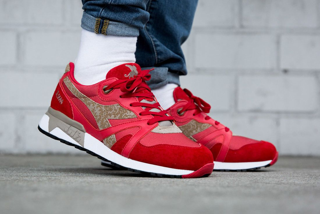 Diadora N9000 Made In Italy Red Bianco Sneaker Freaker 5A
