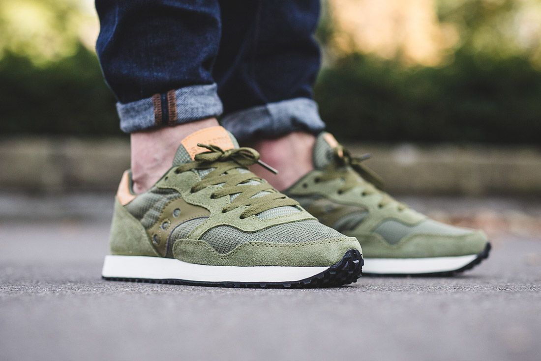 Saucony Dxn Trainer Olive Green 3