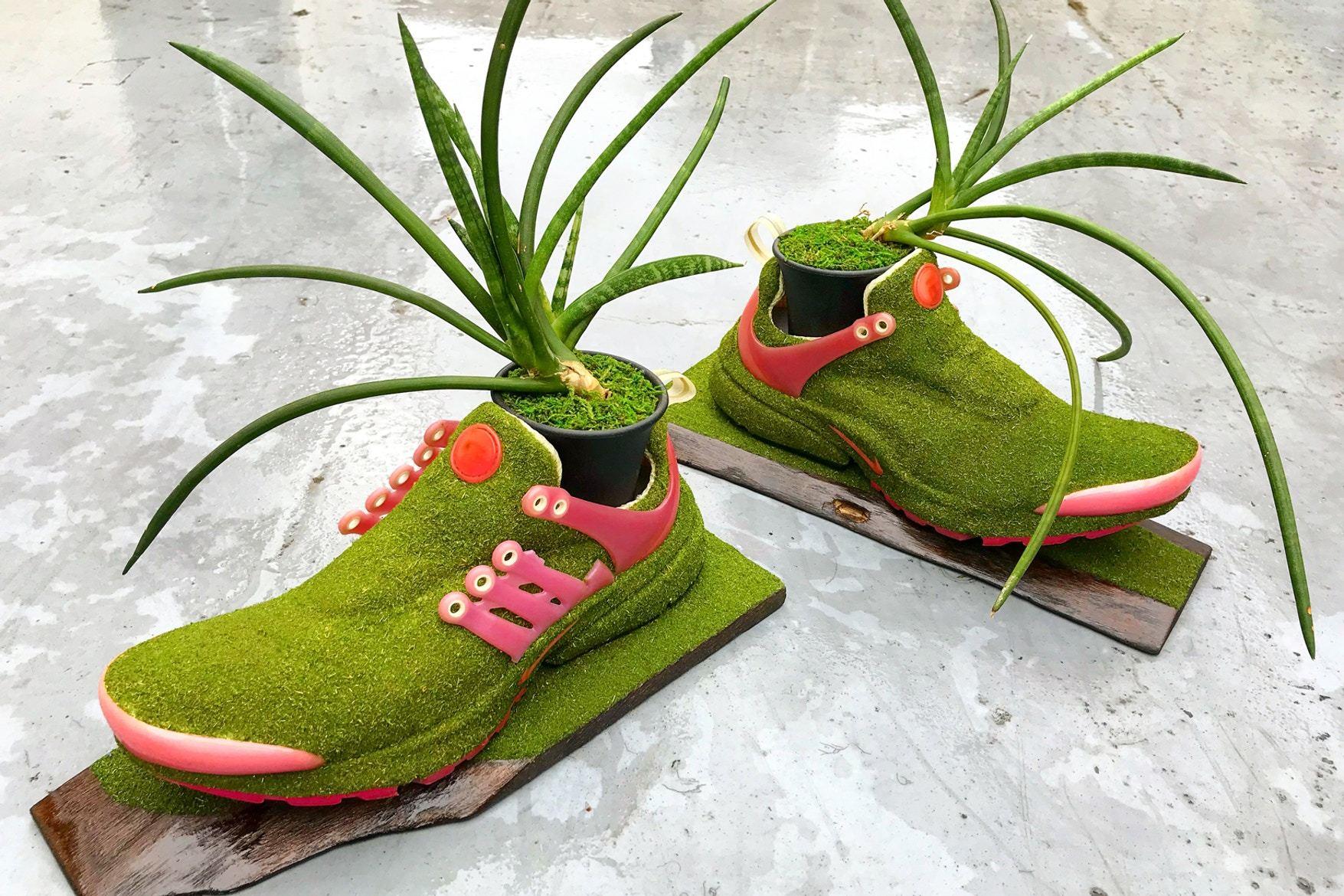 Artist Shoetree Nike Sneakers Sculptural Houseplants 9