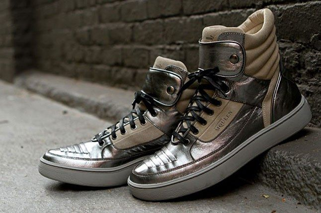Puma Mcqueen Silver Shoes 1