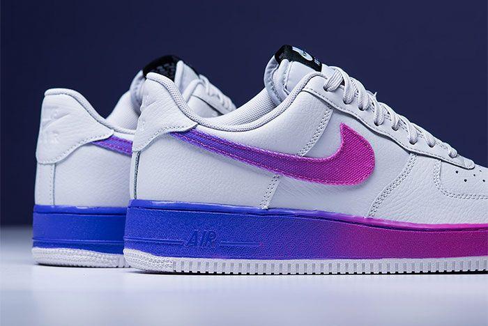 Nike Air Force 1 Low Hyper Grape Cj0524 002 Heel Shot 4