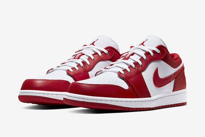 Air Jordan 1 Low Gym Red White 553558 611 Release Date Price 4Official