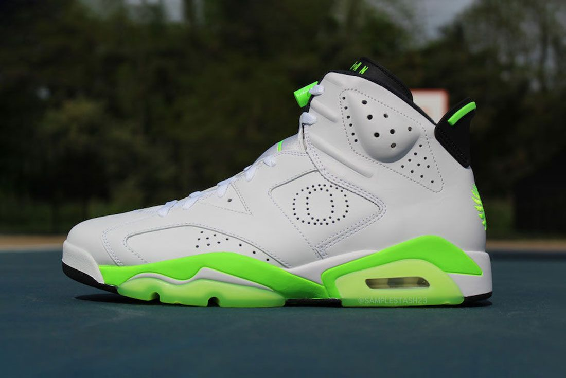 Air Jordan 6 Oregon Womans Basketball Pe Side