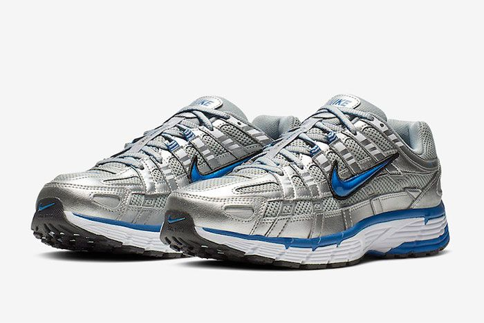 Nike P 6000 Metallic Silver Laser Blue Bv1021 001 Front Angle Shot 2