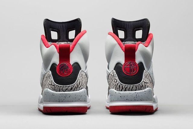 Air Jordan Spizike Wolf Grey Gym Red Bump 2