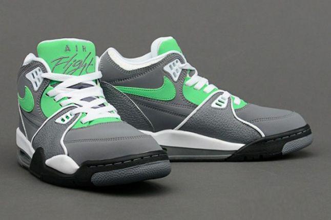 Nike Air Flight 89 Clgrey Poisongrn Hero 1