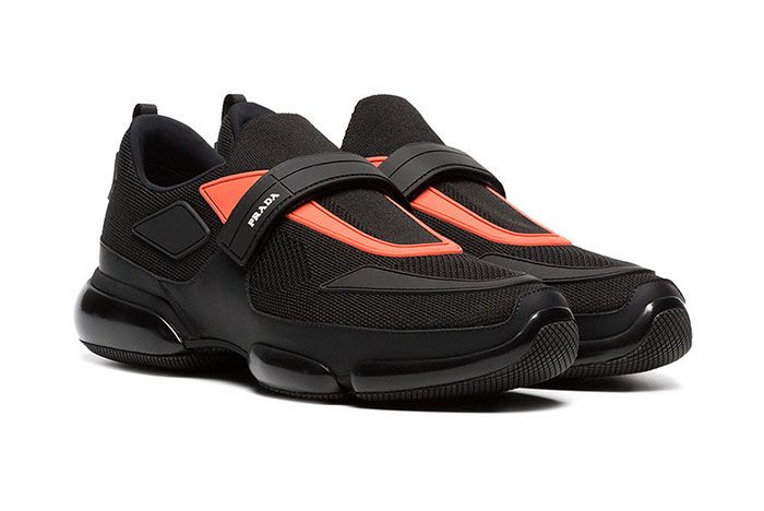 Pradas Cloudbust Receives A Bright Contrast Black Orange Colorway 1 Sneaker Freaker2