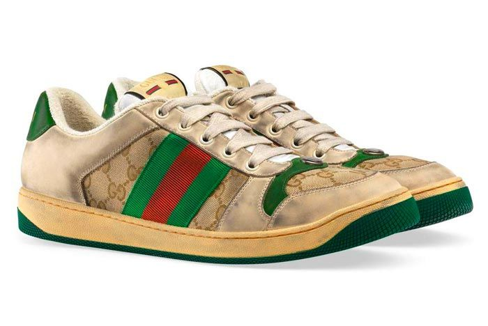 Gucci Distressed Sneakers Gg Canvas Release