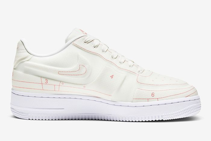 Nike Air Force 1 Low Schematic White Lateral Inside