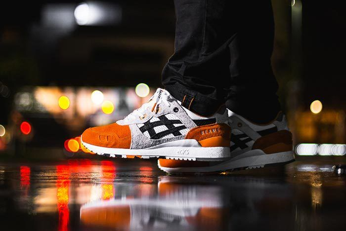 Afew X Beams X Asicstiger Orange Koi On Feet 01