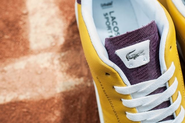 Lacoste Court Attack Purple Yellow 3