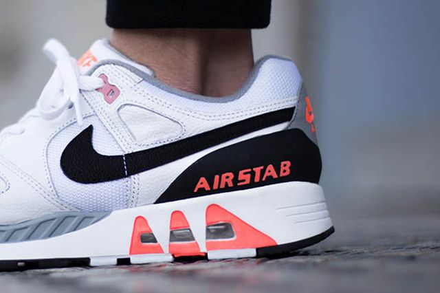 Nike Air Stab White Black Hot Lava 2