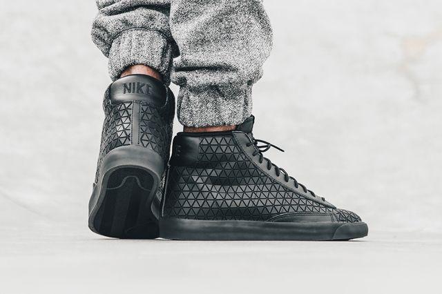 Nike Blazer Mid Metric Qs Triple Black 5