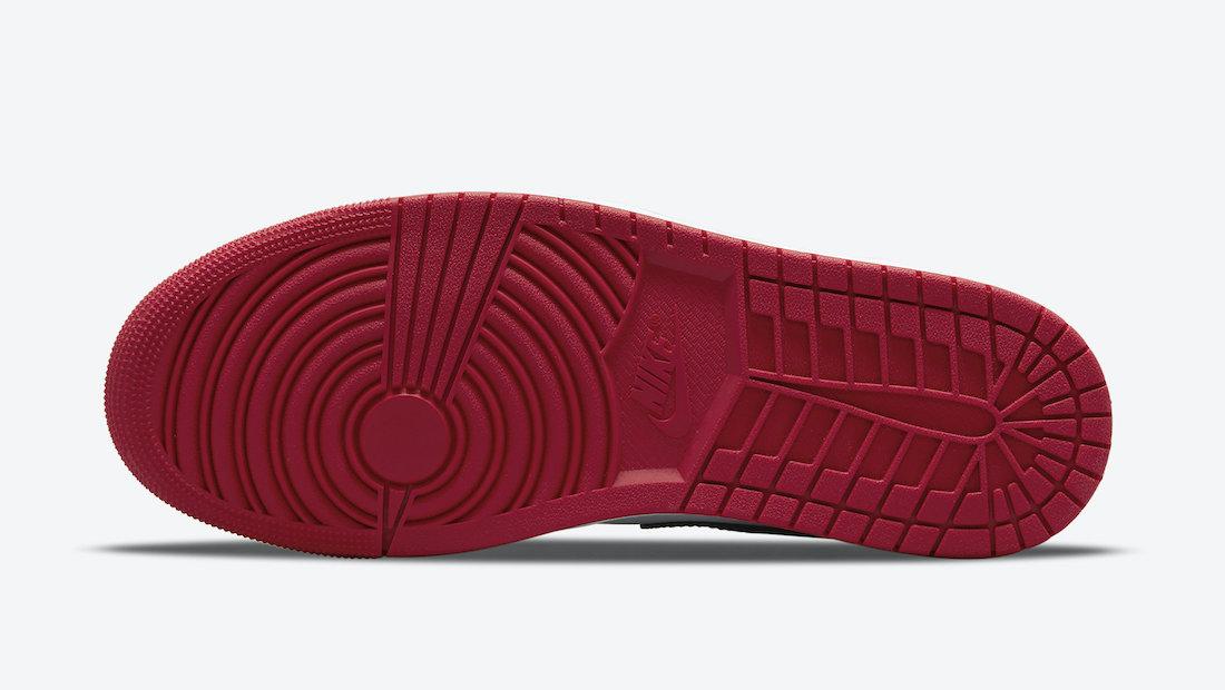 Air Jordan 1 Low Bred Toe 2021