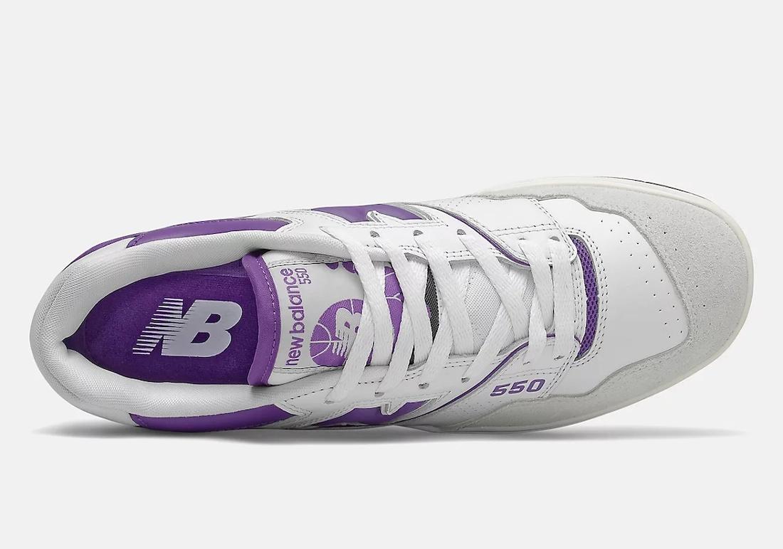 New Balance 550 White Purple BB550WR1