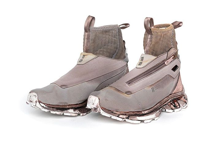 11 By Boris Bidjan Saberi X Salomon Spring Summer 2020 Footwear Brown High Three Quarter Angled Side Shot