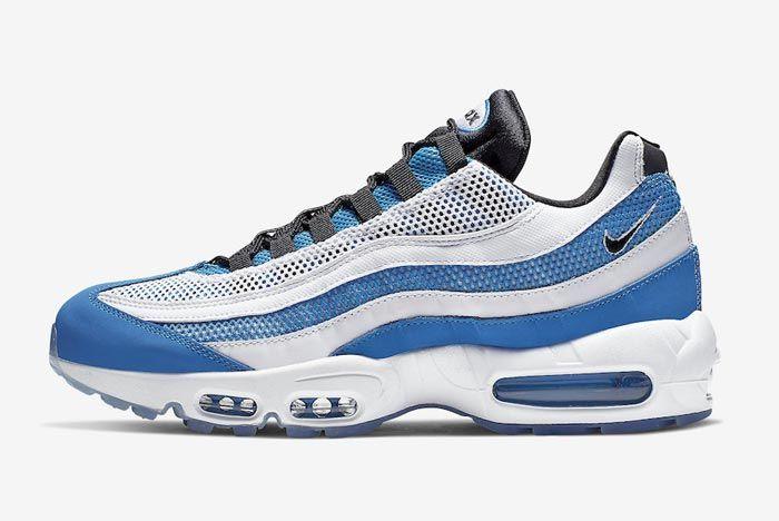 Nike Air Max 95 Essential Blue White Lateral