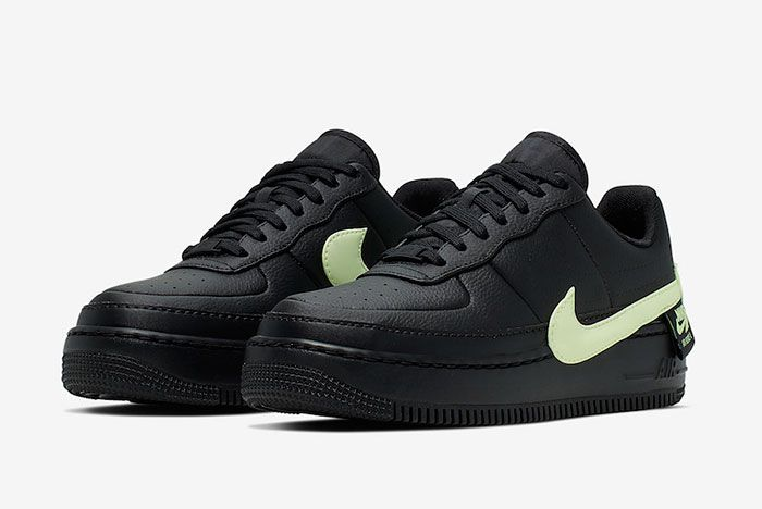 Nike Air Force 1 Jester Xx Black Barely Volt Cn0139 001 Front Angle