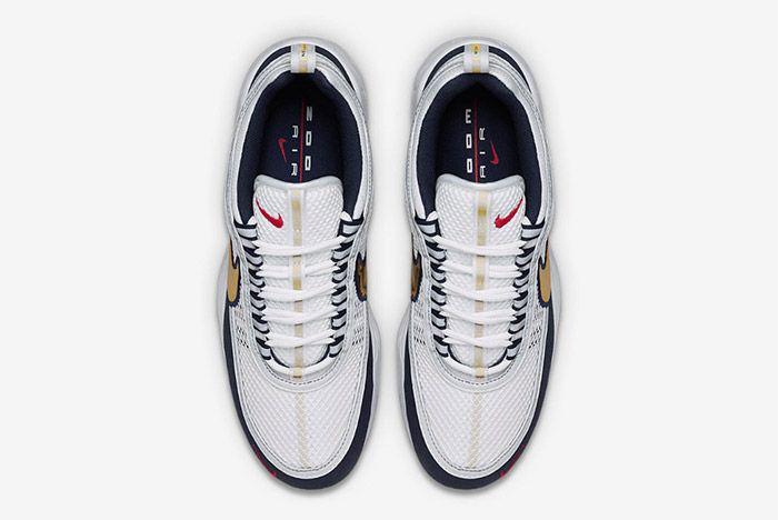 Nike Air Zoom Spiridon White Gold Navy Blue 3