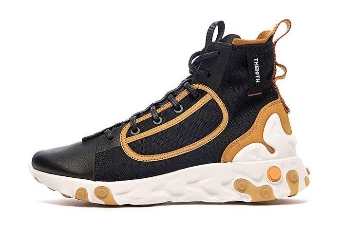 Nike React Ianga The10Th Black White Wheat Phantom Av5555 001 Release Date Lateral