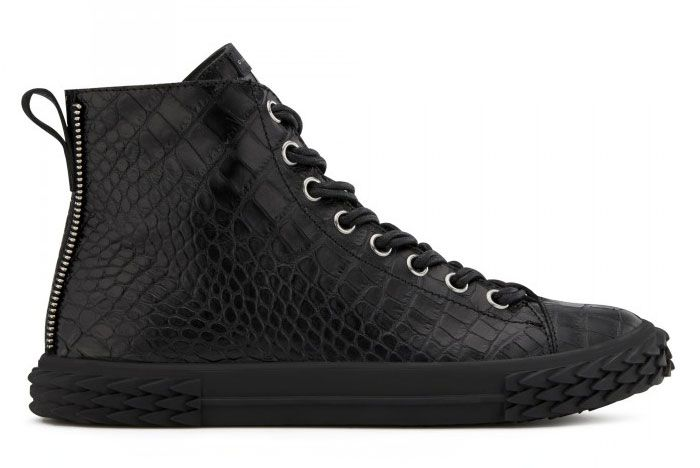 Giuseppe Zanotti Blabber Black Alligator Leather Ru90035001 Right Side View