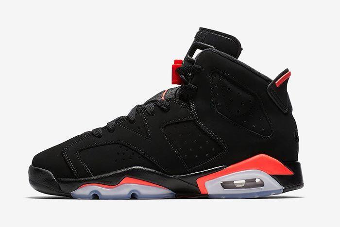 Air Jordan 6 Black Infrared Childrens 2