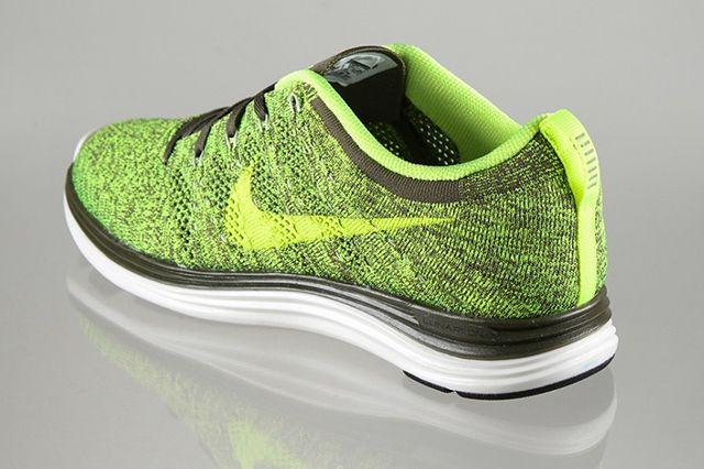 Nike Lunar Flyknit1 Green Tarp Volt 3