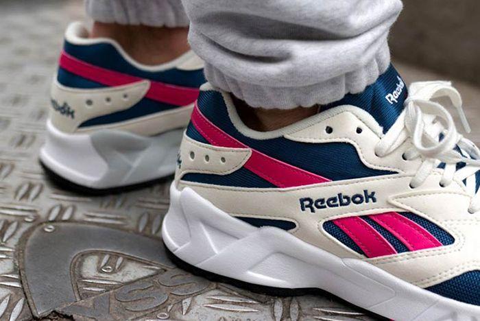 Reebok Aztrek Pink Blue White 3 Sneaker Freaker