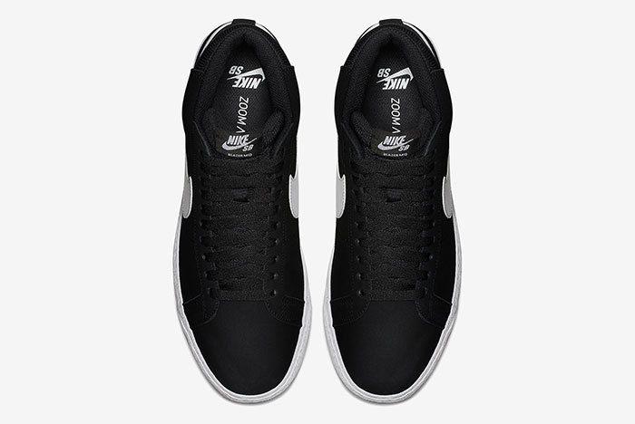 Nike Sb Blazer Mid Black White 4