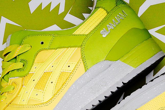 Asics Slam Jam Buttercup Lime Yellow Green Gel Lyte Iii Heel 1
