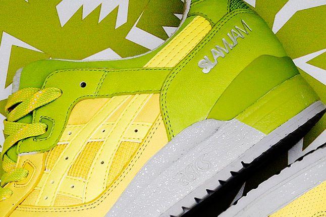 Asics Slam Jam Buttercup Lime Yellow Green Gel Lyte Iii Heel 1