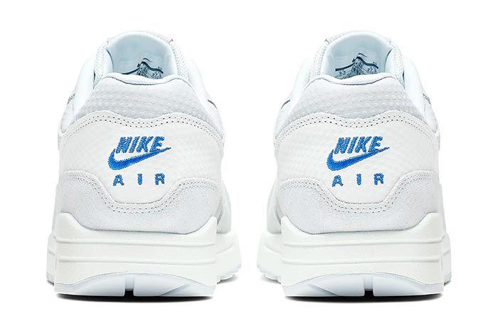 Nike Air Max 1 Premium Cut Out Swoosh White Heel Shot