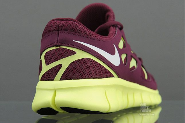 Nike Free Run 2 Bordeaux Heel 1