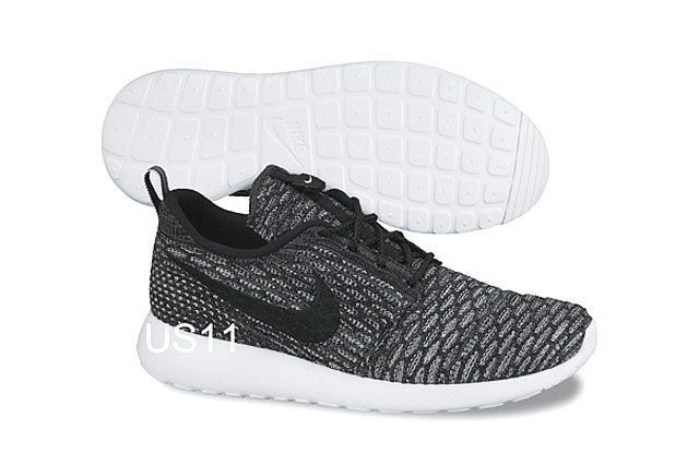 Nike Flyknit Rosherun Gry Blk
