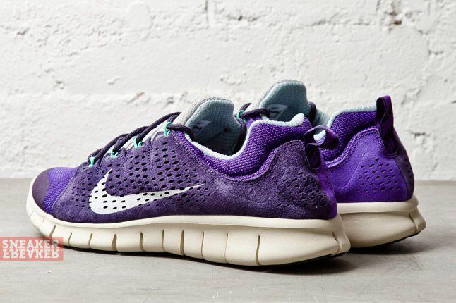 Nike Free Powerlines Ii Ltr Purple Dynasty Geyser Grey 1