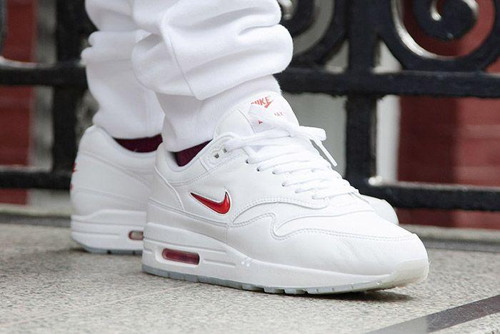 Nike Air Max 1 Jewel White Red 8