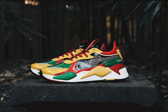 Atmos Puma Rs X Red Green Yellow Lateral Side Shot